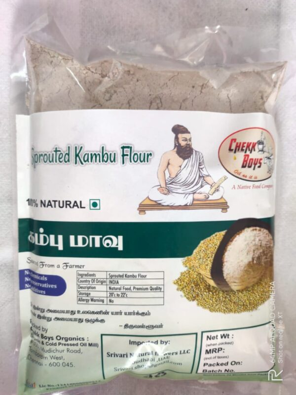 Sprouted pearl millet flour